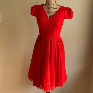 Light In The Box red cap sleeve dress